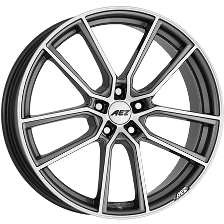 AEZ - Raise, 17 x 7.5 inch, 5x112 PCD, ET48, Gunmetal / Polished Single Rim