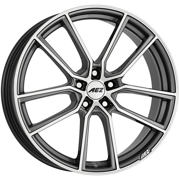 AEZ - Raise, 19 x 8 inch, 5x108 PCD, ET45, Gunmetal / Polished Single Rim