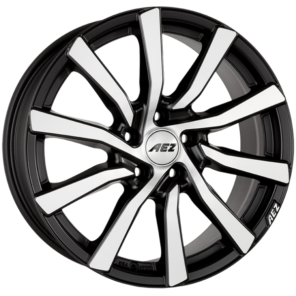 AEZ - Reef, 20 x 9 inch, 5x112 PCD, ET35, Matt Black / Polished Single Rim