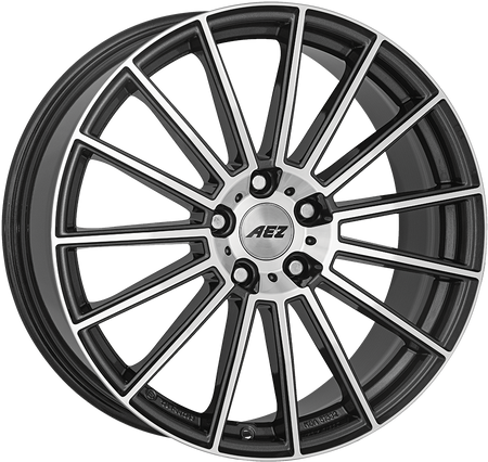 AEZ - Steam, 19 x 8.5 inch, 5x112 PCD, ET32, Gunmetal / Polished Single Rim