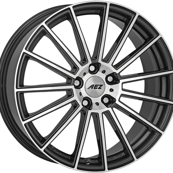 AEZ - Steam, 18 x 8 inch, 5x108 PCD, ET45, Gunmetal / Polished Single Rim