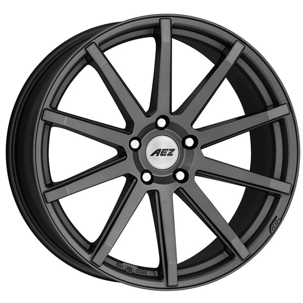 AEZ - Straight Dark, 17 x 7.5 inch, 5x112 PCD, ET35, Graphite Single Rim
