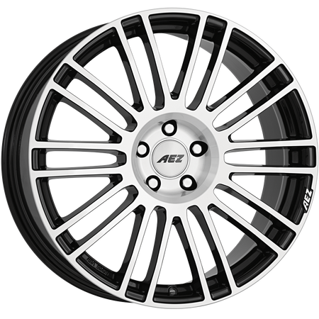 AEZ - Strike, 19 x 8.5 inch, 5x108 PCD, ET40, Black / Polished Face Single Rim