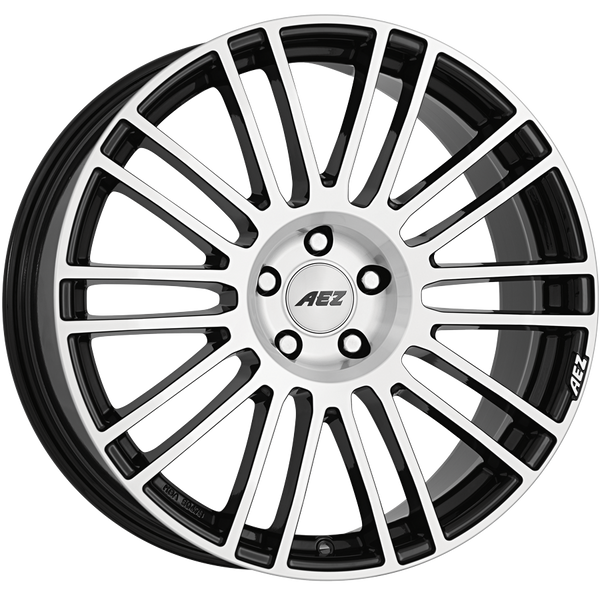 AEZ - Strike, 19 x 8.5 inch, 5x114.3 PCD, ET28, Black / Polished Face Single Rim