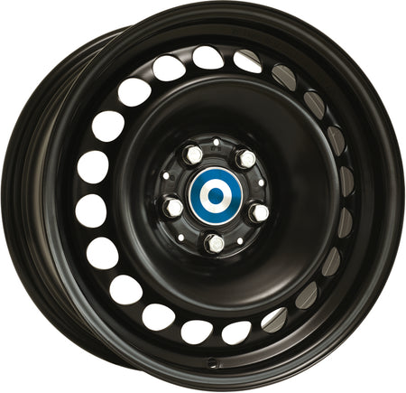 Alcar Stahlrad - Steel Wheel, 17 x 7.5 inch, 4x108 PCD, ET29, Black / Silver Single Rim