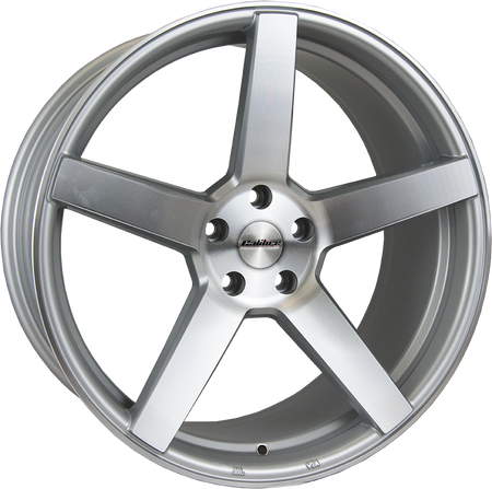 Calibre - CC-Q, 20 x 8.5 inch, 5x120 PCD, ET35, Silver / Polished Face Single Rim