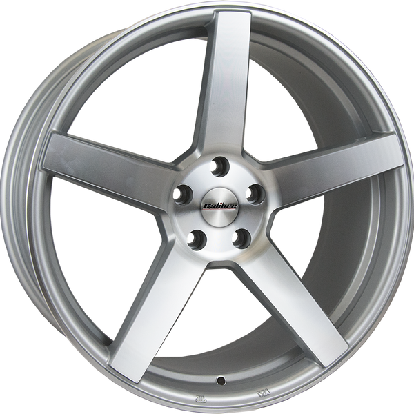Calibre - CC-Q, 20 x 8.5 inch, 5x112 PCD, ET45, Silver / Polished Face Single Rim