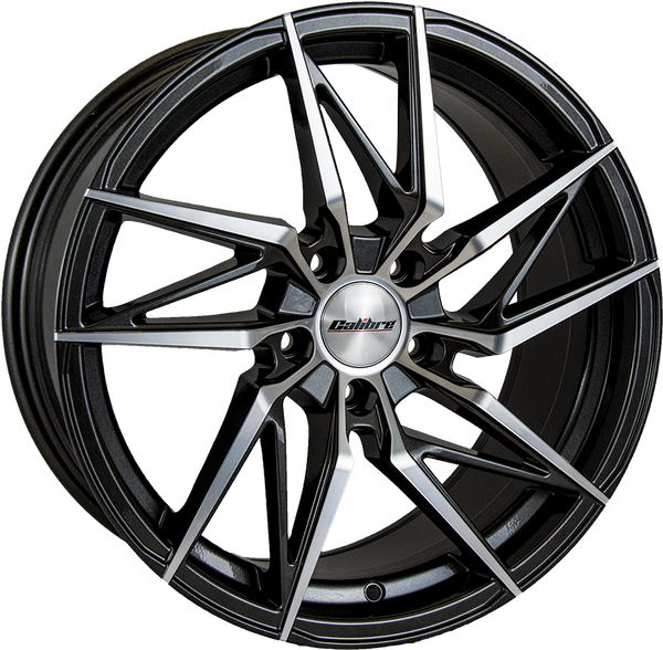 Calibre - CC-Z, 19 x 8.5 inch, 5x112 PCD, ET45, Gunmetal / Polished Face Single Rim