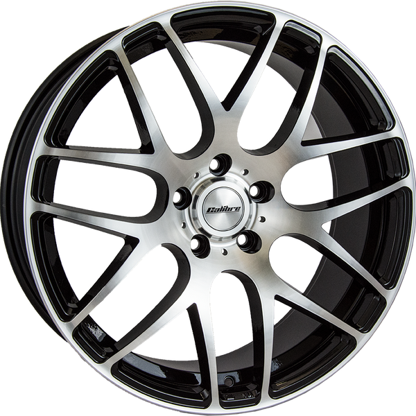 Calibre - Exile-R, 18 x 8 inch, 5x118 PCD, ET45, Black / Polished Face Single Rim