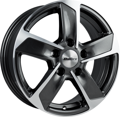 Calibre - Freeway, 16 x 6.5 inch, 5x130 PCD, ET60, Gunmetal Polished Single Rim