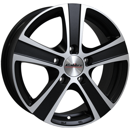 Calibre - Highway, 16 x 6.5 inch, 5x114.3 PCD, ET45, Matt Black / Polished Face Single Rim