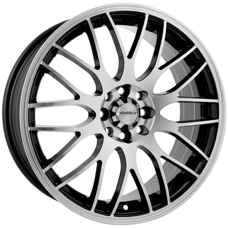 Calibre - Motion, 15 x 6.5 inch, 4x100 PCD, ET38, Black / Polished Face Single Rim