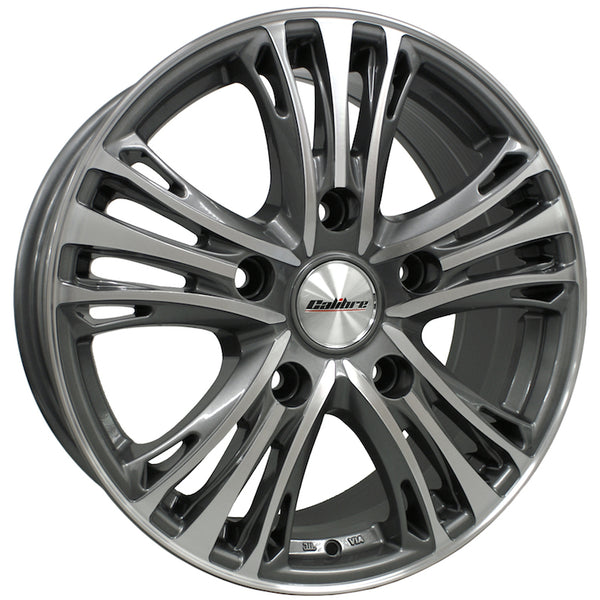 Calibre - Odyssey, 18 x 7.5 inch, 5x160 PCD, ET48, Gunmetal / Polished Face Single Rim