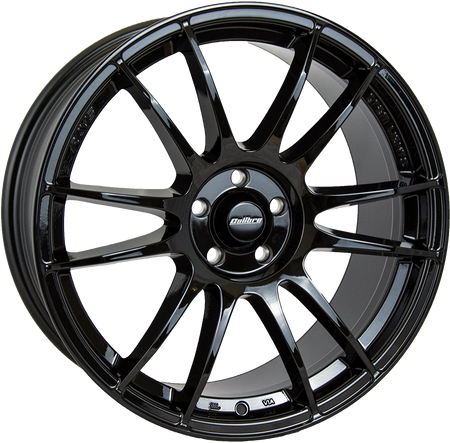 Calibre - Suzuka, 17 x 7.5 inch, 4x108 PCD, ET35, Black Single Rim
