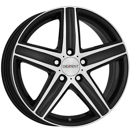Dezent - TG Dark, 17 x 7 inch, 5x112 PCD, ET48, Black / Polished Single Rim