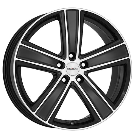 Dezent - TH Dark, 17 x 7.5 inch, 5x118 PCD, ET43, Black / Polished Single Rim