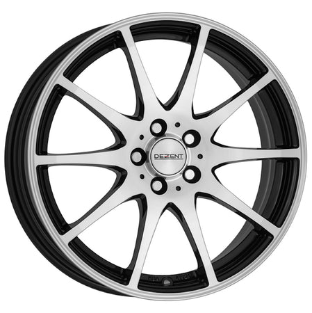 Dezent - TI Dark, 14 x 4.5 inch, 4x100 PCD, ET35, Black / Polished Single Rim