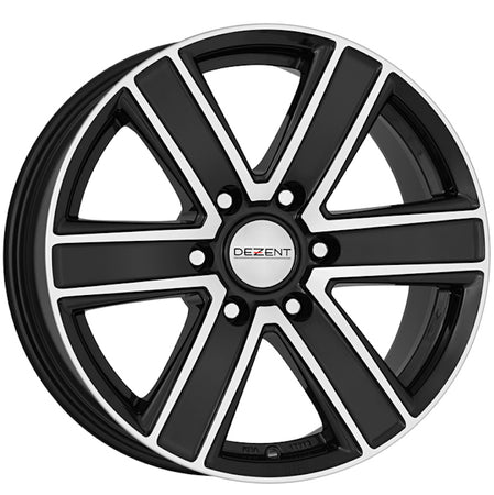 Dezent - TJ Dark, 18 x 8 inch, 6x139.7 PCD, ET20, Black / Polished Single Rim