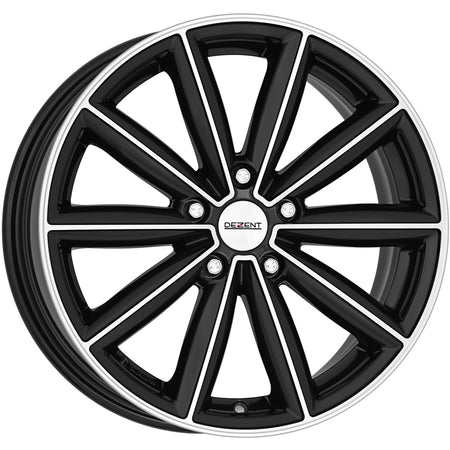 Dezent - TM Dark, 18 x 7 inch, 5x112 PCD, ET54, Black / Polished Single Rim