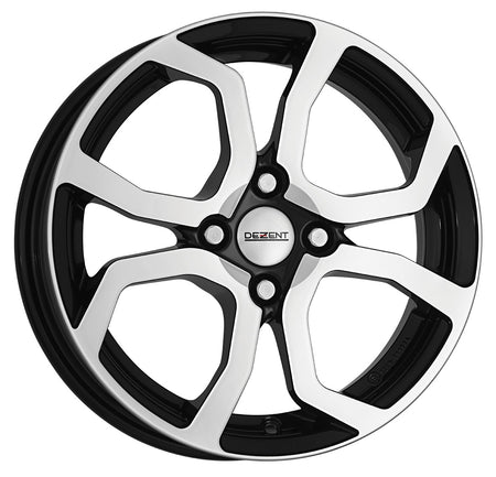 Dezent - TS Dark, 15 x 5.5 inch, 4x100 PCD, ET42, Black / Polished Single Rim