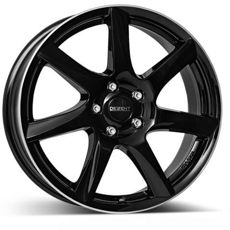 Dezent - TW, 15 x 6 inch, 5x100 PCD, ET38, Black / Polished Single Rim