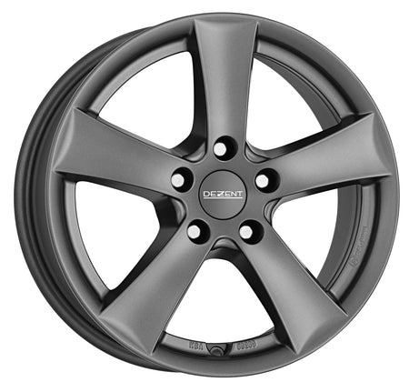 Dezent - TX Graphite, 15 x 5.5 inch, 5x100 PCD, ET40, Graphite Single Rim