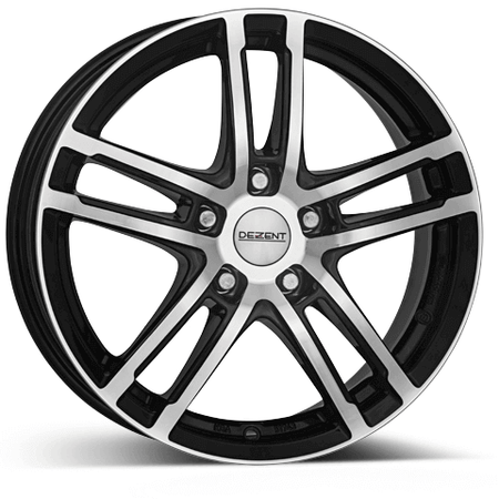 Dezent - TZ, 15 x 6 inch, 4x100 PCD, ET38, Black / Polished Single Rim