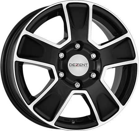 Dezent - Van Dark, 16 x 6.5 inch, 5x130 PCD, ET68, Black / Polished Single Rim