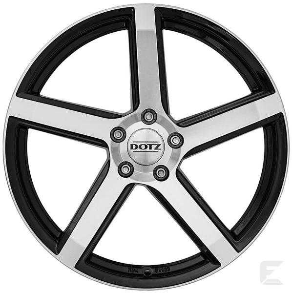Dotz - CP5 Dark, 20 x 8.5 inch, 5x112 PCD, ET28, Black / Polished Single Rim