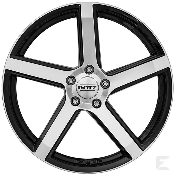 Dotz - CP5 Dark, 17 x 7 inch, 4x100 PCD, ET45, Black / Polished Single Rim