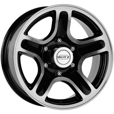 Dotz - Hammada Dark, 16 x 8 inch, 5x114.3 PCD, ET25, Black / Matt Polished Single Rim