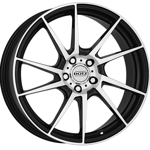 Dotz - Kendo, 18 x 8 inch, 5x112 PCD, ET48, Black / Polished Single Rim