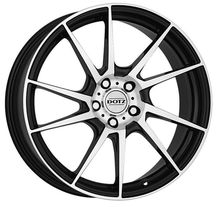 Dotz - Kendo, 17 x 7 inch, 4x108 PCD, ET25, Black / Polished Single Rim