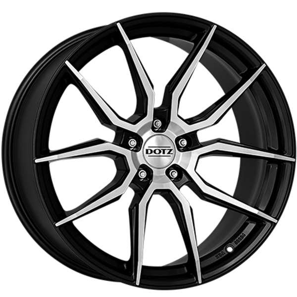 Dotz - Misano, 17 x 7.5 inch, 5x112 PCD, ET48, Gunmetal / Polished Single Rim