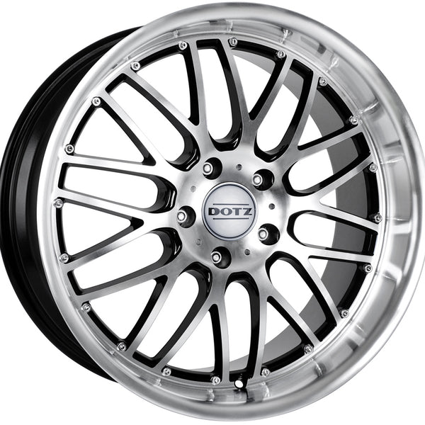 Dotz - Mugello, 18 x 8 inch, 5x112 PCD, ET35, Black / Polished Single Rim