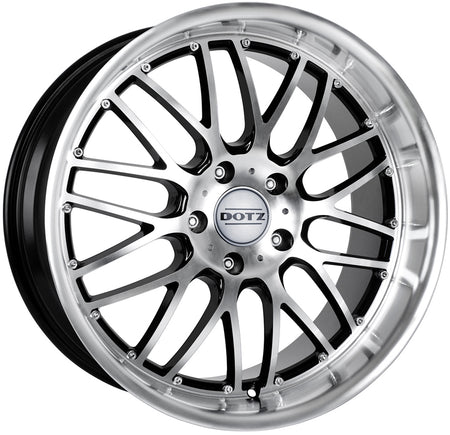 Dotz - Mugello, 15 x 6.5 inch, 4x100 PCD, ET35, Black / Polished Single Rim