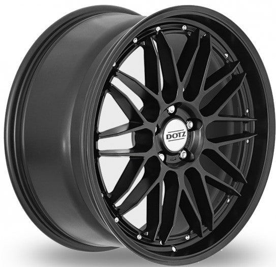 Dotz - Revvo Black Edt, 19 x 8 inch, 5x112 PCD, ET45, MATT BLACK Single Rim