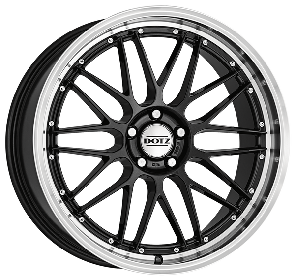 Dotz - Revvo Dark, 17 x 7.5 inch, 5x108 PCD, ET48, Gunmetal / Polished Lip Single Rim