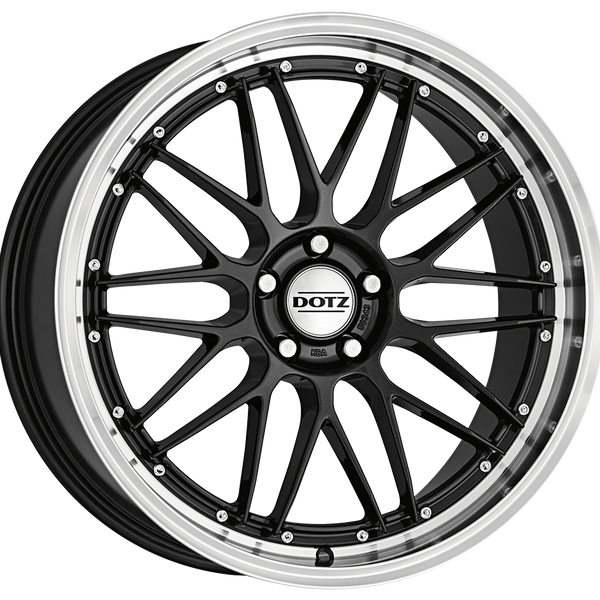 Dotz - Revvo Dark, 19 x 8 inch, 5x108 PCD, ET45, Gunmetal / Polished Lip Single Rim
