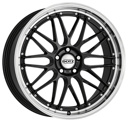 Dotz - Revvo Dark, 17 x 7.5 inch, 5x112 PCD, ET48, Gunmetal / Polished Lip Single Rim