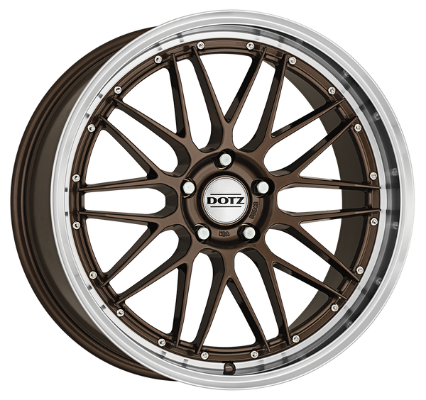 Dotz - Revvo, 20 x 8.5 inch, 5x112 PCD, ET28, Bronze / Polished Lip Single Rim