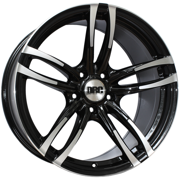 DRC - DMF, 19 x 8.5 inch, 5x120 PCD, ET33, Black / Polished Face Single Rim