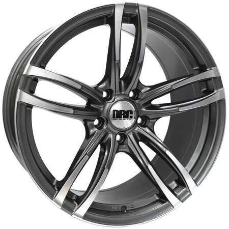 DRC - DMF, 19 x 9.5 inch, 5x120 PCD, ET42, Gunmetal / Polished Face Single Rim
