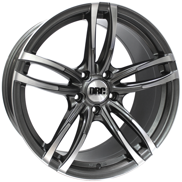 DRC - DMF, 19 x 8.5 inch, 5x120 PCD, ET33, Gunmetal / Polished Face Single Rim