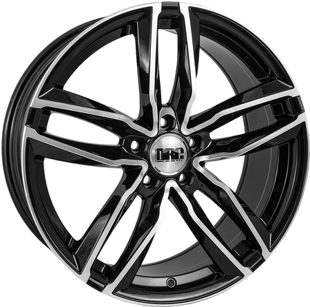 DRC - DAA, 18 x 8 inch, 5x120 PCD, ET45, Black / Polished Single Rim