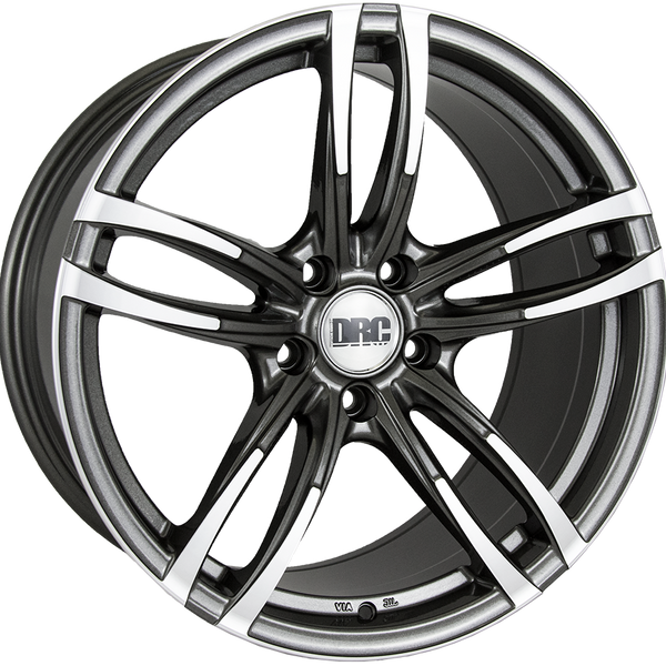 DRC - DMF, 18 x 9 inch, 5x120 PCD, ET40, Gunmetal / Polished Single Rim