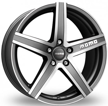 MOMO - Hyperstar Evo, 16 x 7 inch, 5x114.3 PCD, ET45, Matt Anthracite Polished Single Rim