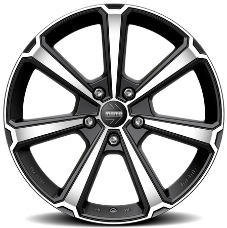 MOMO - Legend, 17 x 7 inch, 5x108 PCD, ET43, Matt Black Polished Single Rim