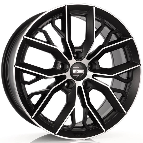 MOMO - Massimo, 18 x 8 inch, 5x112 PCD, ET40, Matt Black Polished Single Rim