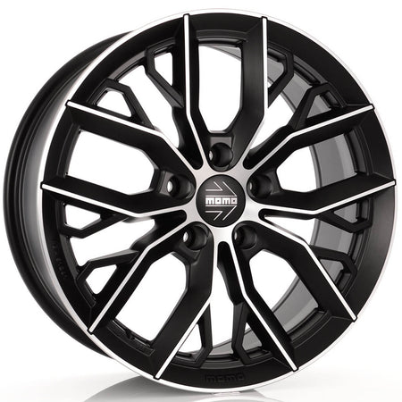 MOMO - Massimo, 16 x 7 inch, 5x112 PCD, ET48, Matt Black Polished Single Rim